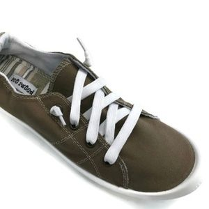 Not Rated Womens Rae Olive Fashion Sneakers Sz 8.5